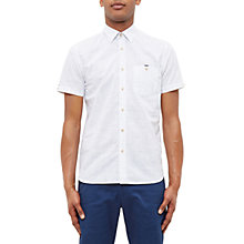 Buy Ted Baker Samgee Checked Shirt, White Online at johnlewis.com
