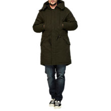 Buy Denham Fracture Parka Jacket, Mountain Green Online at johnlewis.com