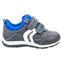 Buy Geox Children's Shaax Rip Tape Trainers, Grey Online at johnlewis.com