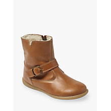 Buy John Lewis Children's Isla Leather Boots, Tan Online at johnlewis.com