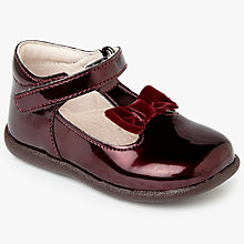 Buy John Lewis Children's Molly T-Bar Patent Shoes, Burgundy Online at johnlewis.com