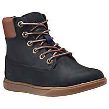 "Buy Timberland Children's Groveton 6"" Lace Boots, Navy Online at johnlewis.com"