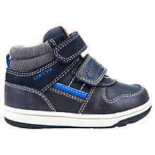 Buy Geox Children's B Flick Double Riptape Shoes, Navy/Royal Blue Online at johnlewis.com