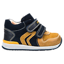 Buy Geox Children's Rishon Shoes, Navy/Biscuit Online at johnlewis.com