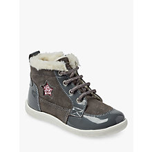 Buy John Lewis Children's Jessica Lace Up Suede Boots, Grey Online at johnlewis.com
