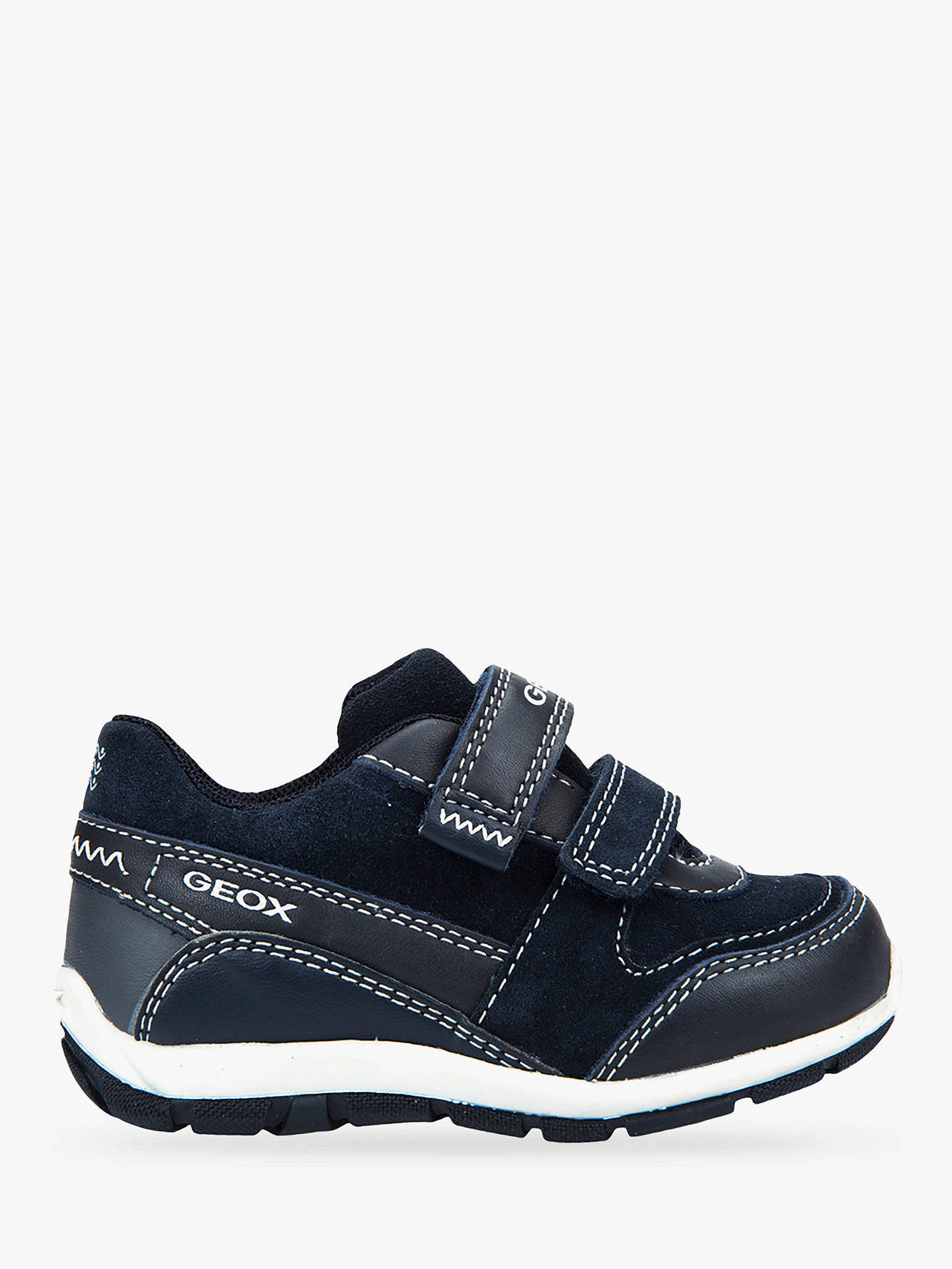 Geox Children's Shaax Riptape Trainers, Navy at John Lewis