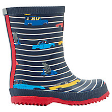 Buy Little Joule Children's Stripe Car Wellington Boots Online at johnlewis.com