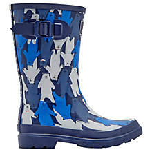 Buy Little Joule Children's Bear Camo Wellington Boots, Blue Online at johnlewis.com