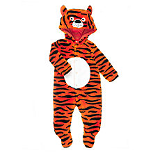 Buy John Lewis Baby Dress Up Tiger Onesie, Orange Online at johnlewis.com
