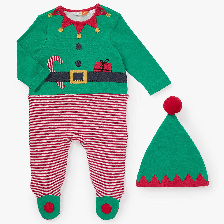 John Lewis Baby Dress Up Elf esie Green at John Lewis