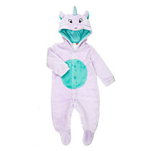 Buy John Lewis Baby Dress Up Unicorn Onesie, Purple Online at johnlewis.com