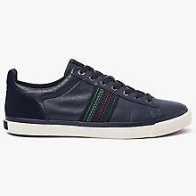 Buy PS by Paul Smith Seppo Leather Trainers, Navy Online at johnlewis.com