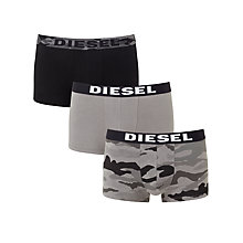 Buy Diesel Shawn Camo Boxer Trunks, Pack of 3, Black Online at johnlewis.com