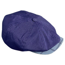 Buy Ted Baker Golf Inwon Check Flat Cap, Blue Online at johnlewis.com