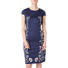Buy Precis Petite Adele Embroidered Dress, Navy Online at johnlewis.com