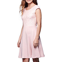 Buy Yumi Floral Lace Cap Sleeve Dress, Soft Pink Online at johnlewis.com