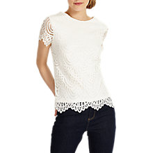 Buy Phase Eight Tessa Lace Top, White Online at johnlewis.com