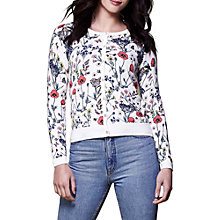 Buy Yumi Floral Knitted Cardigan, Ivory Online at johnlewis.com