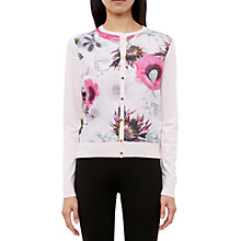 Buy Ted Baker Erinie Neon Poppy Woven Front Cardigan, Nude Pink Online at johnlewis.com