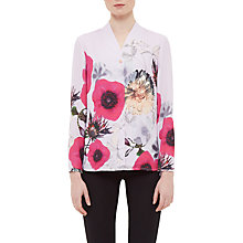 Buy Ted Baker Ellite Neon Poppy V-Neck Blouse, Pink Online at johnlewis.com