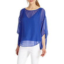 Buy Phase Eight Phoebe Silk Blouse, Blue Online at johnlewis.com
