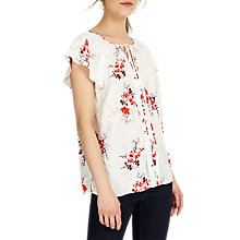 Buy Phase Eight Nina Blossom Print Blouse, Multi Online at johnlewis.com