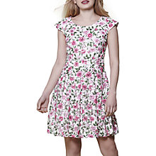 Buy Yumi Rose Print Skater Dress, Multi Online at johnlewis.com