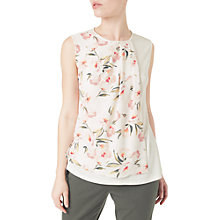 Buy Precis Petite Woven Floral Print Top, Ivory/Multi Online at johnlewis.com