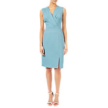 Buy Adrianna Papell Jacquard Pleated Sheath Dress, Bluebell Online at johnlewis.com