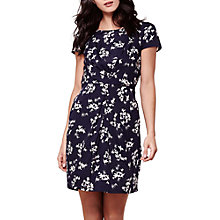 Buy Yumi Ruched Floral Bird Print Dress, Navy Online at johnlewis.com