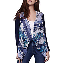 Buy Yumi Floral Shawl Cardigan, Blue Online at johnlewis.com
