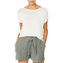 Buy Mint Velvet Tape Yarn Slouchy Tee, Ivory Online at johnlewis.com