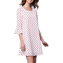 Buy Yumi Ditsy Floral Flared Sleeve Shift Dress, White Online at johnlewis.com