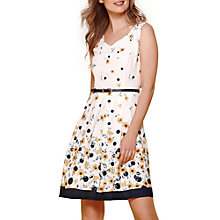 Buy Yumi Buttercup Spot Belt Dress, Ivory Online at johnlewis.com
