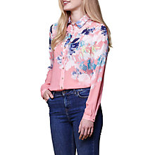 Buy Yumi Watercolour Floral Shirt, Coral Online at johnlewis.com