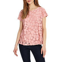 Buy Phase Eight Becky Burnout Top, Perky Pink Online at johnlewis.com