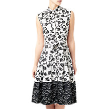 Buy Precis Petite Floral Print Shirt Dress, Black/Multi Online at johnlewis.com