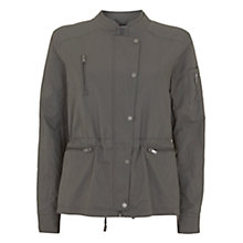 Buy Mint Velvet Casual Zip Detail Jacket, Khaki Online at johnlewis.com