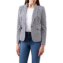 Buy Hobbs Marlowe Tailored Jacket, Navy/White Online at johnlewis.com