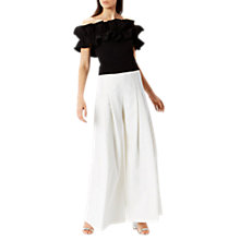 Buy Coast Saxon Wide Leg Trousers, Cream Online at johnlewis.com