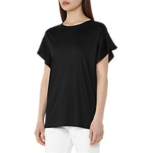 Buy Reiss Frill Detail Top, Black Online at johnlewis.com