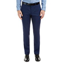 Buy HUGO by Hugo Boss C-Huge1 Fil a Fil Slim Fit Suit Trousers, Medium Blue Online at johnlewis.com