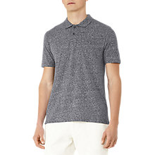 Buy Reiss Halo Melange Weave Polo Shirt, Navy Online at johnlewis.com