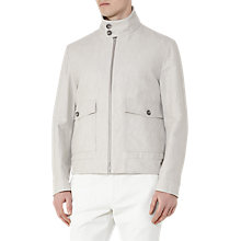 Buy Reiss Sparta Cotton Linen Jacket, Light Grey Online at johnlewis.com