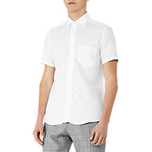Buy Reiss Dodd Short Sleeve Linen Shirt, White Online at johnlewis.com
