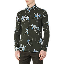 Buy Reiss Oaker Floral Print Slim Fit Shirt, Emerald Green Online at johnlewis.com