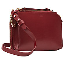 Buy Reiss Arnott Mini Leather Across Body Bag, Red Online at johnlewis.com