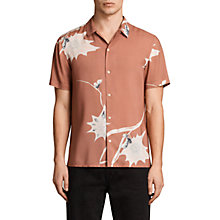 Buy AllSaints Mokapu Short Sleeve Shirt, Cinnamon Red Online at johnlewis.com