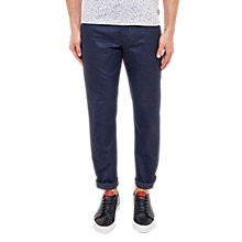 Buy Ted Baker Cropps Slim Fit Cropped Trousers, Navy Online at johnlewis.com