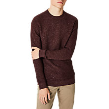 Buy Selected Homme Ellis Zig Zag High Neck Jumper, Decadent Chocolate Online at johnlewis.com